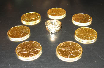Gold Coins and Puzzle Ring